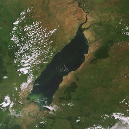 Satellite image of Lake Albert