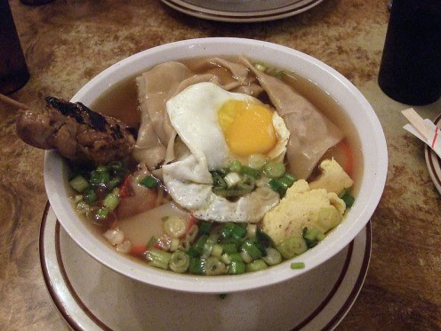 Saimin type soups in Hawaii are often cooked up with Spam added.