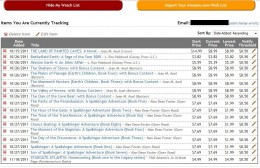 My current watch list of book prices.