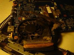 Cleaned the fan inside.