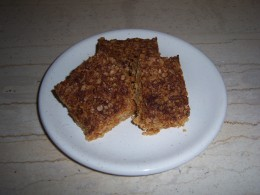 10. Your slightly chewy oat and coconut flapjacks are now ready to eat....