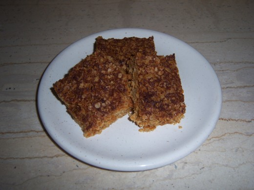 Your chewy oat and coconut flapjacks are ready to eat!!!....Enjoy....