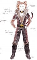 Costume Design for Rum Tum Tugger (San Diego Junior Theatre, Cats 2008. Designer: Walter Allen)