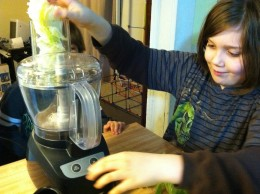 Older children can help with shredding lettuce and cheese using a food processor