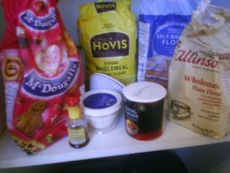 Keep ingredients for baking in stock