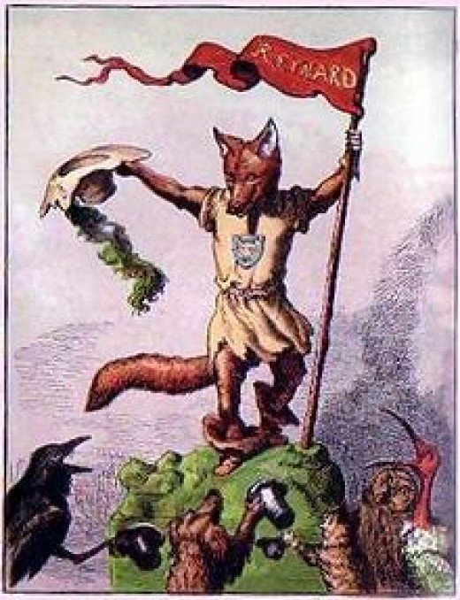 Reynard the Fox, drawn by Edward Griset, from an 1869 children's book.