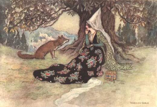 Detail from illustration by Arthur Rackham, public domain image.
