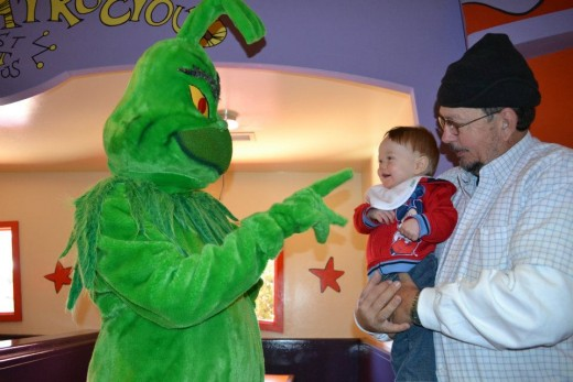 Thanks to early enough detection of his kidney cancer and successful surgery, my uncle Doug was able to enjoy this moment with his grandson Matthew and the Grinch at Universal Studios in Florida.