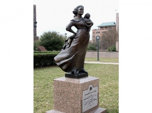 Monument honoring Texas pioneer women--Texas State Capitol, Austin