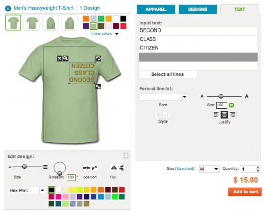 Spreadshirt create tool!
