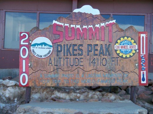 Welcome to the Summit of Pikes Peak