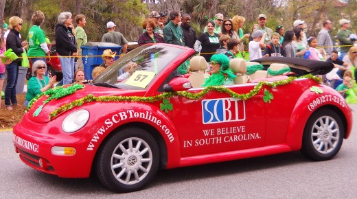 "SCBT's ""We Believe in South Carolina"" car had a colorful driver."