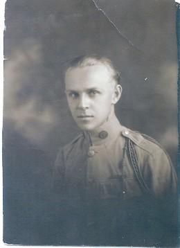Portrait of a World War I soldier