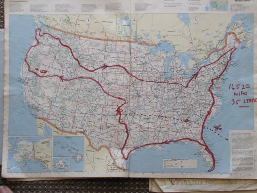 The route-15 000 miles