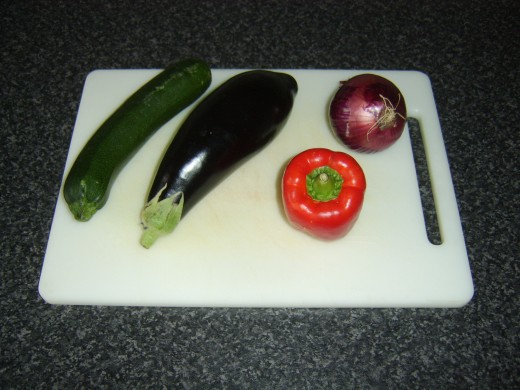 Mediterranean style vegetables for roasting