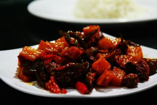 Sambal Goreng Hati - Beef Liver In Spicy Chili Sauce