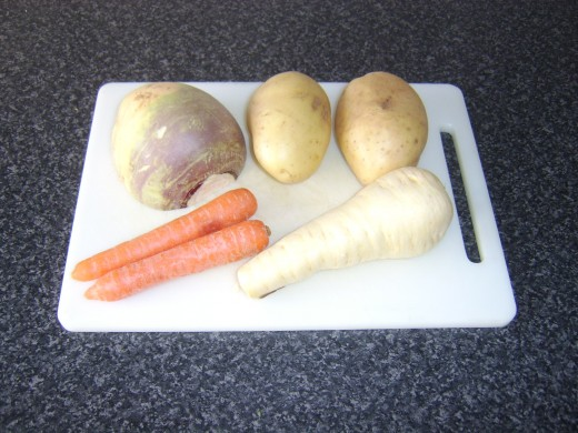 Root vegetables for use in this vegetarian stew