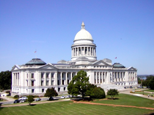 The Arkansas State Capitol is modeled after the U.S. Capitol in Washington, D.C.