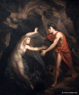 Orpheus and Eurydice, Stub, 1806