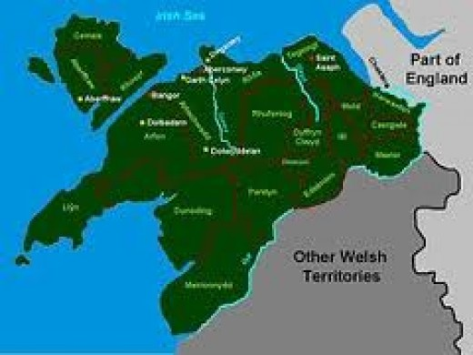 Gwynedd at the time of Gruffyd ap Llewellyn. Harold sailed around the coast towards the north whilst Tostig and his Northumbrians rode across country