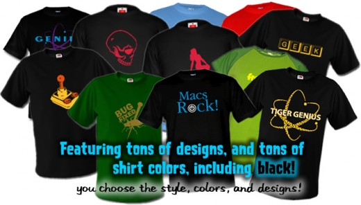 Great shirt designs and ideas available through the create tool. Makes designing easy!