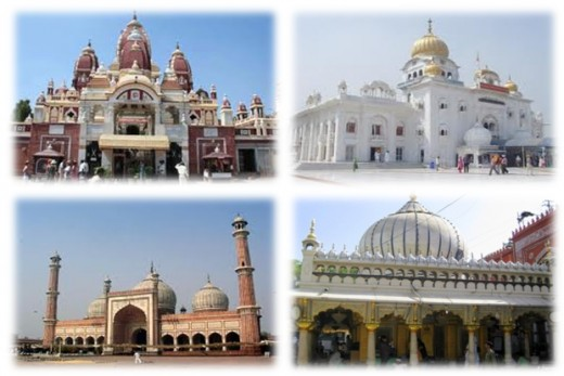 Popular religious and spiritual places in Delhi