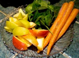 Juicing spinach is easier and tastier when juiced with carrots and apples.