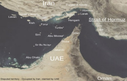 Strait of Hormuz area