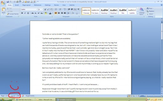 Microsoft word will show you your word count as you type and makes spelling and grammar checks very easy.