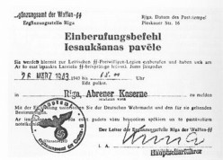 Latvian Legion conscription order 26.03.1943