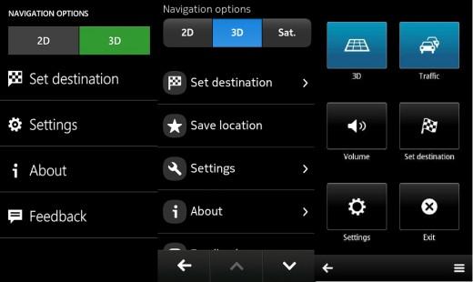 Navigation Option, Lumia, N9, E7