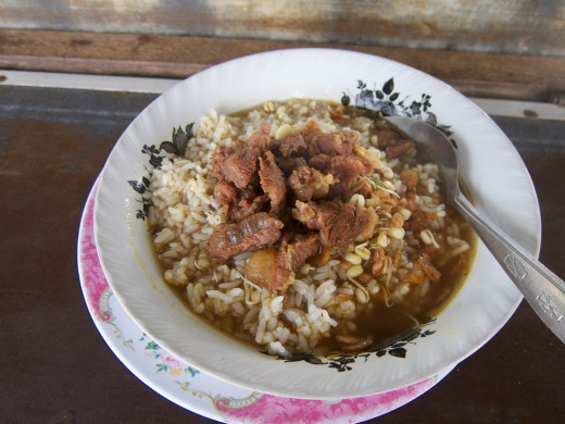 Nasi Rawon (Rawon soup with rice)