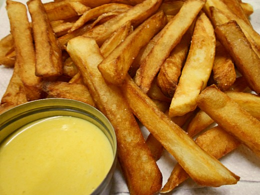 Golden fries with a secret sauce - taking the potato very seriously!