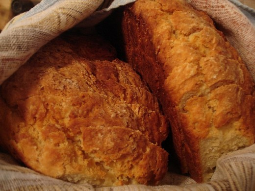 Loaves of Irish Soda Bread