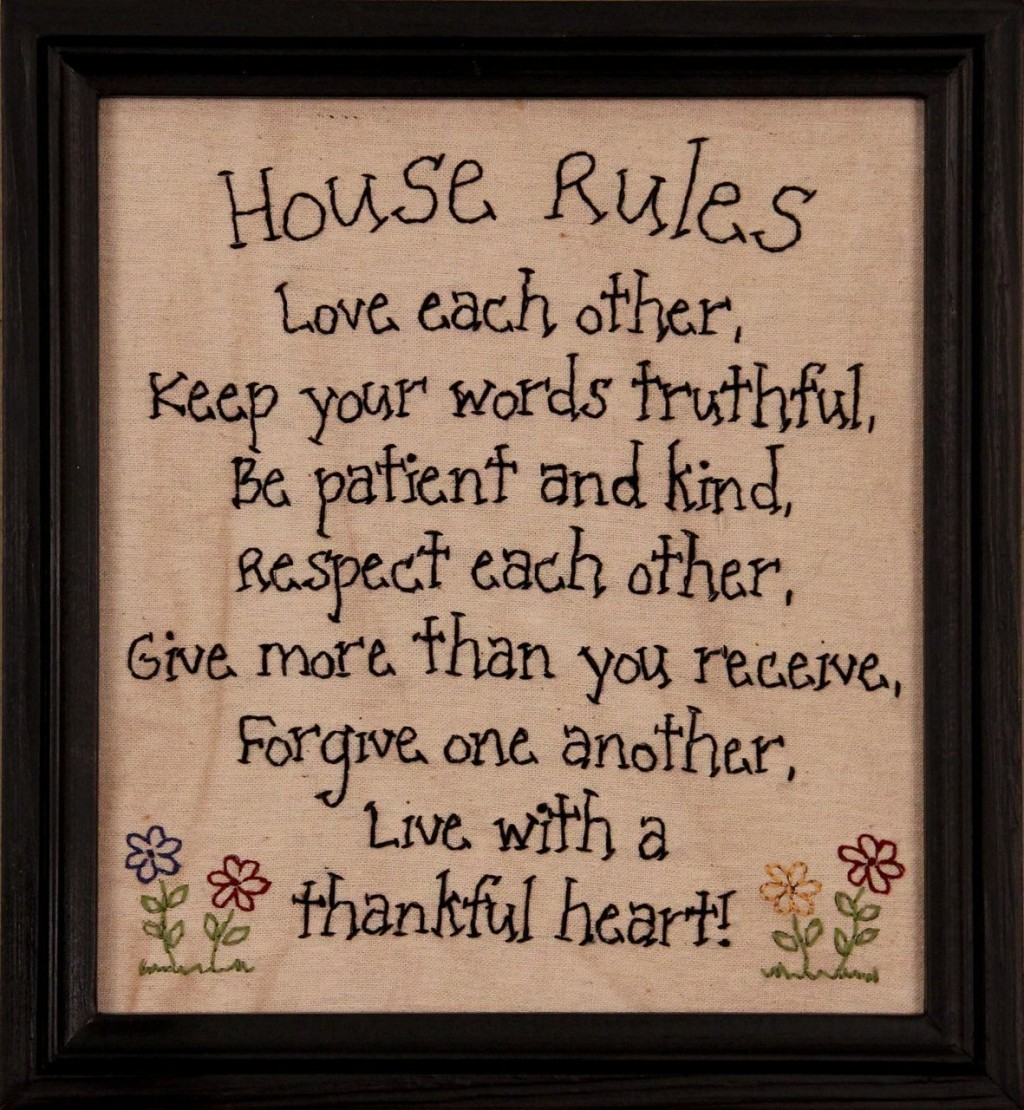 House Rules Home Work