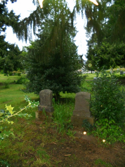 Civil War Cemetery Eugene Oregon.Day time orb photos are rare, but as you can see in the botom right of this photo....