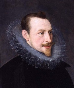Oil painting of Edmund Spenser.