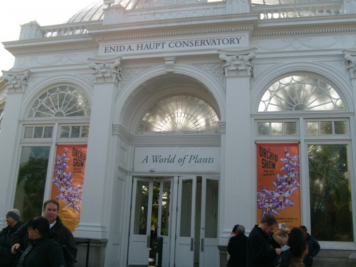 Entrance to the Enid Haupt Conservatory
