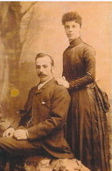 Letitia Phillips and Thomas Bate on their Wedding Day