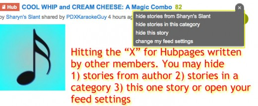 Hubpages MainStream Viewing Options Explained