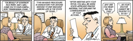 Doonesbury Strip March 14, 2012 Which the Detroit Free Press Declined to Carry