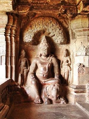 Matang Yaksha in a Jain Cave of Ellora, Maharashtra