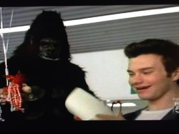 Is Blaine's first reappearance in a gorilla costume?