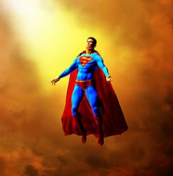 ONLY THE YELLOW SUN OF PLANET EARTH CAN GIVE SUPERMAN HIS SUPER POWERS.