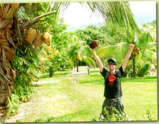 Danny and his coconut.