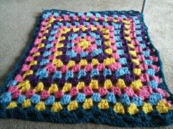 How to crochet a granny square afghan