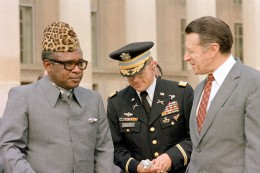 Other types of two-legged snakes who figure prominently in the background of this historical-fiction novel, Mobutu and U.S. Government officials.