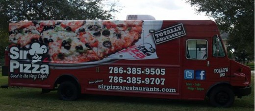Wha?! There's a Sir Pizza food truck? I think that would look nice in my driveway!
