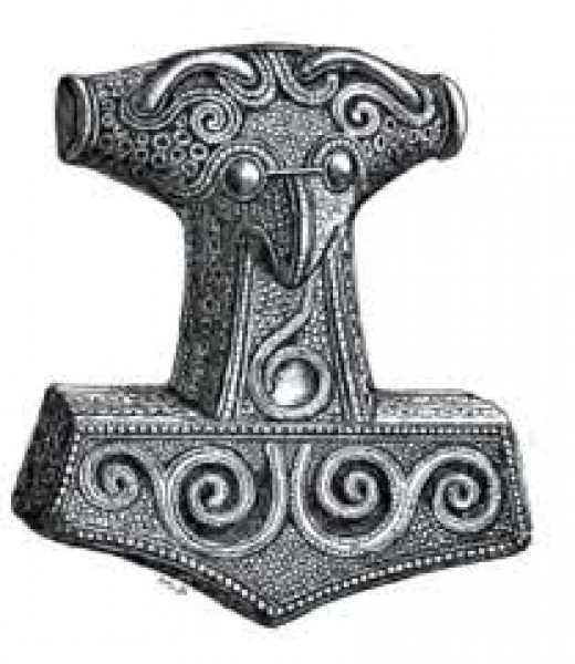 Thor's hammer, Mjollnir, the amulet most men would wear to protect them from attack