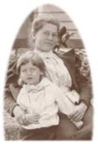 Bessie Bruford & young cousin Edward Phillips, Burlingame KS, in late summer or early fall 1893, from the group photo below.
